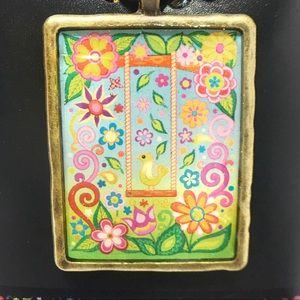Multicolored Floral Rectangle Boho Necklace NEW!🌺
